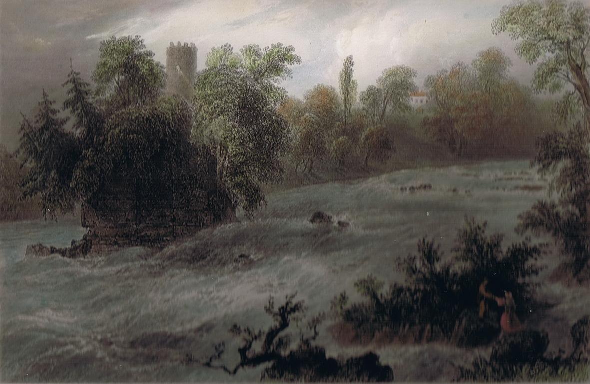A nineteenth-century view of the Falls of Doonass (W H Bartlett)