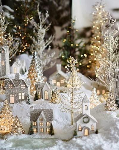Pottery Barn Inspired Christmas Village