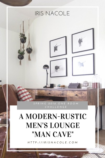 "One Room Challenge: ""Men's Lounge"" (Week Six-The Reveal)"