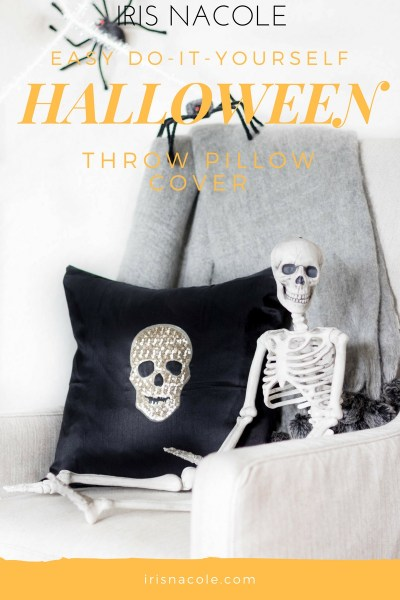 Easy DIY Halloween Throw Pillow Cover