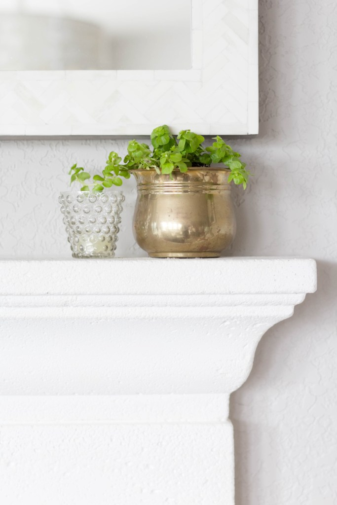 Spring Mantel Styling-Vintage Garden-With Thrift Store Decor-IrisNacole.com
