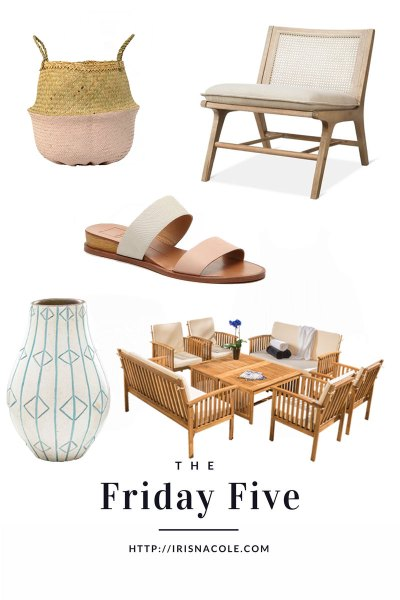 The Friday Five by Iris Nacole-Home Decor-Fashion-Beauty
