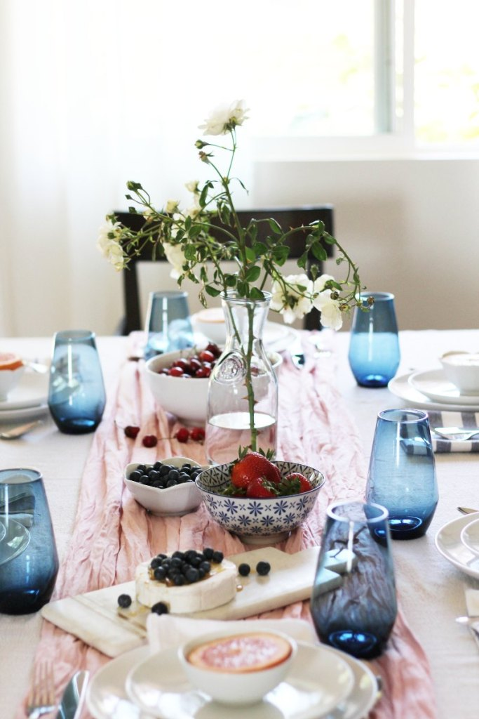 Honey n Hydrangea Beautiful Brunch Table Setting