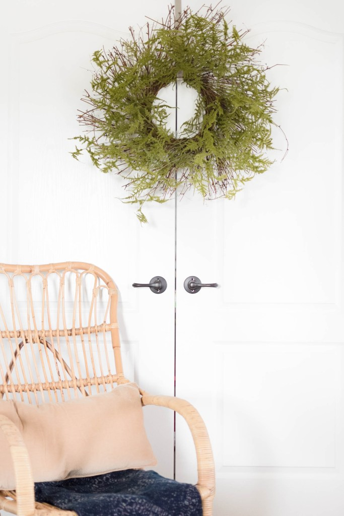 Learn how to make this beautiful fern wreath for yourself, on IrisNacole.com