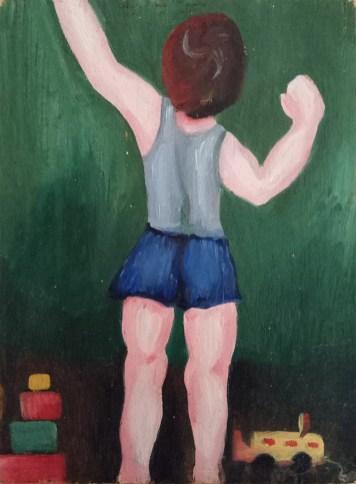 ציור קטן בשמן - ילד