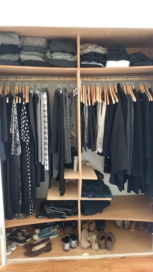 Blick in den Kleiderschrank