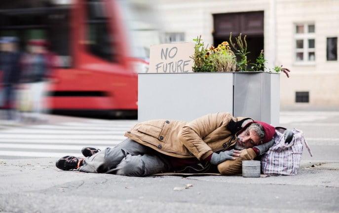 222 bezdomnych zmarło w Dublinie w latach 2016-2019