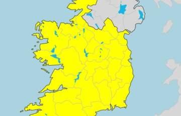 Żółty status pogodowy dla całej Irlandii !!!