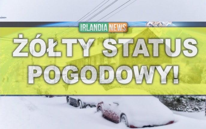 Ostrzeżenie przed śniegiem dla całej Irlandii