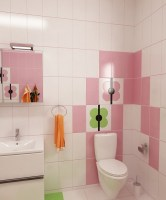 Rosa badezimmer