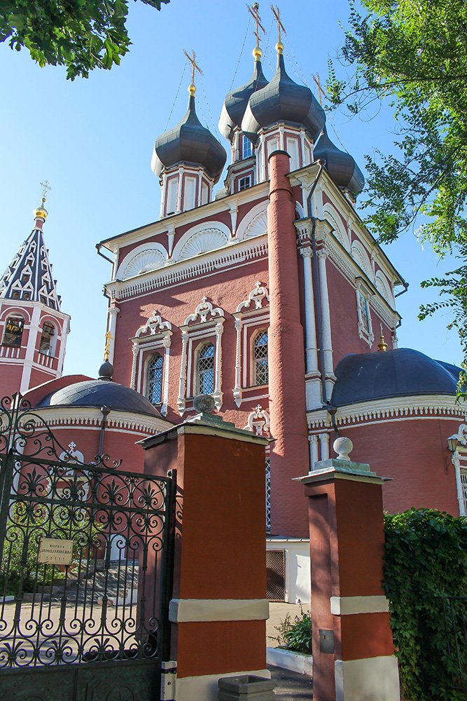 Architectural gems of Moscow, Russia | Church Deposition of the Robe on Donskoy