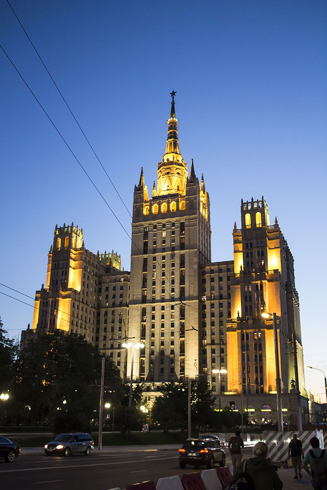 Architectural gems of Moscow, Russia | Kudrinskaya Square Building