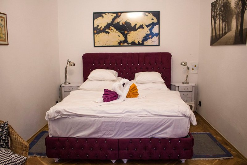 Where to stay in Prague, Czech Republic | The bed at Prague Siesta Apartments