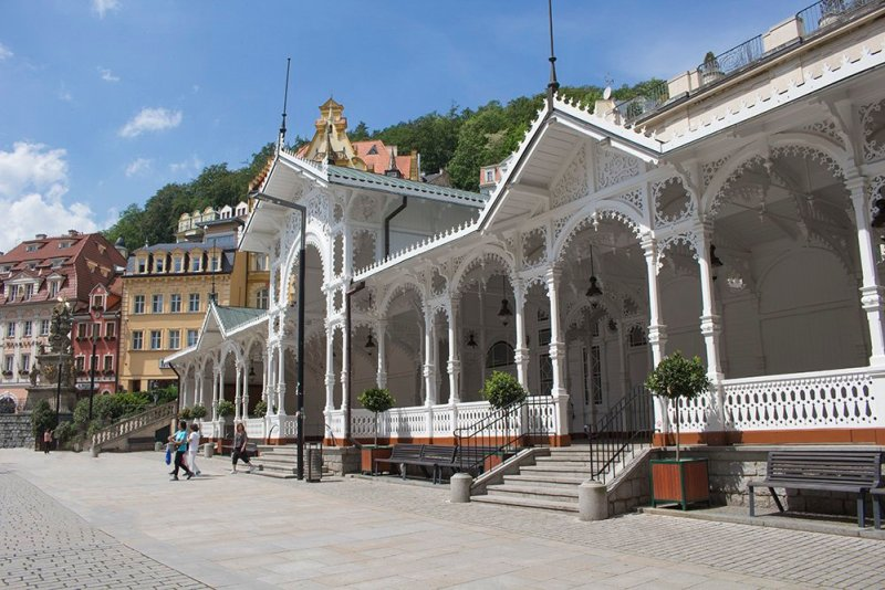 A day trip from Prague: what to do in Karlovy Vary   Market Colonnade
