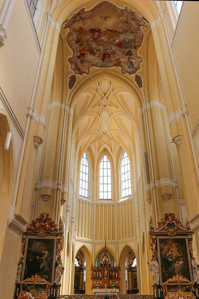 Kutna Hora on a day trip from Prague: things to do | In the Cathedral of Our Lady in Kutna Hora