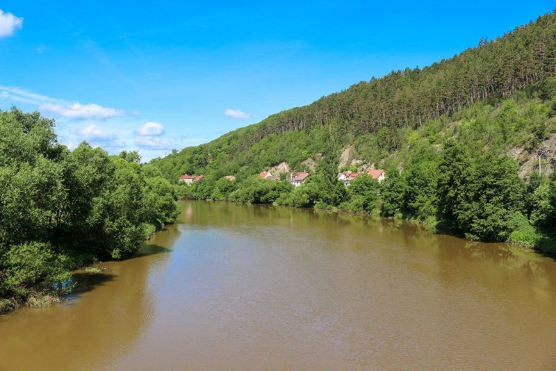 From Prague to Karlstejn Castle, Czech Republic | View from the bridge