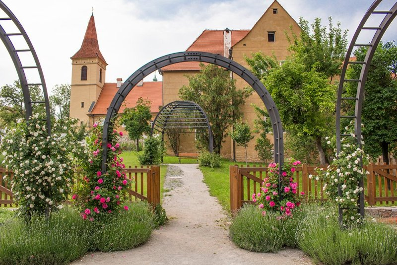 A day trip from Prague to Cesky Krumlov Castle | Monastery of the Minorites of the Poor Clares and the garden