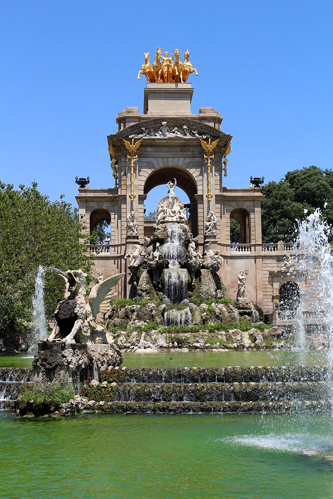 Things to do in Barcelona for free   Fountain in Ciutadella Park