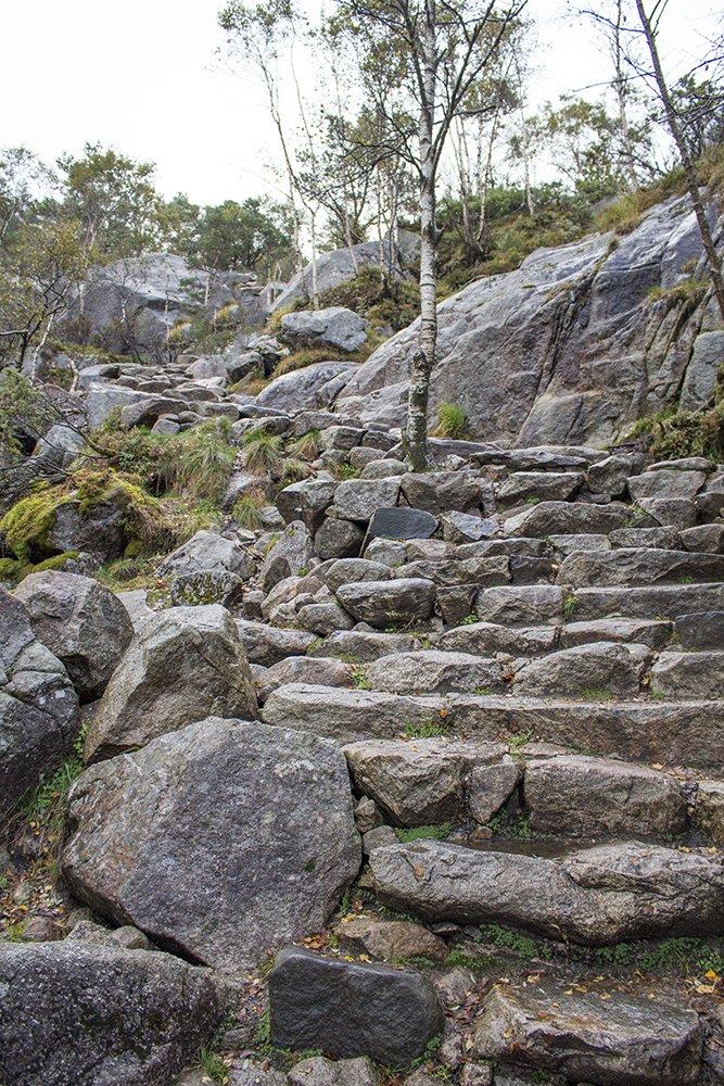 Preikestolen hike | Stone stairways to Preikestolen