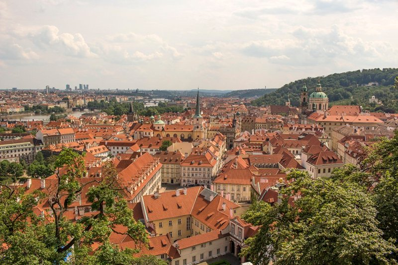 View of Prague from Lobkowicz Palace