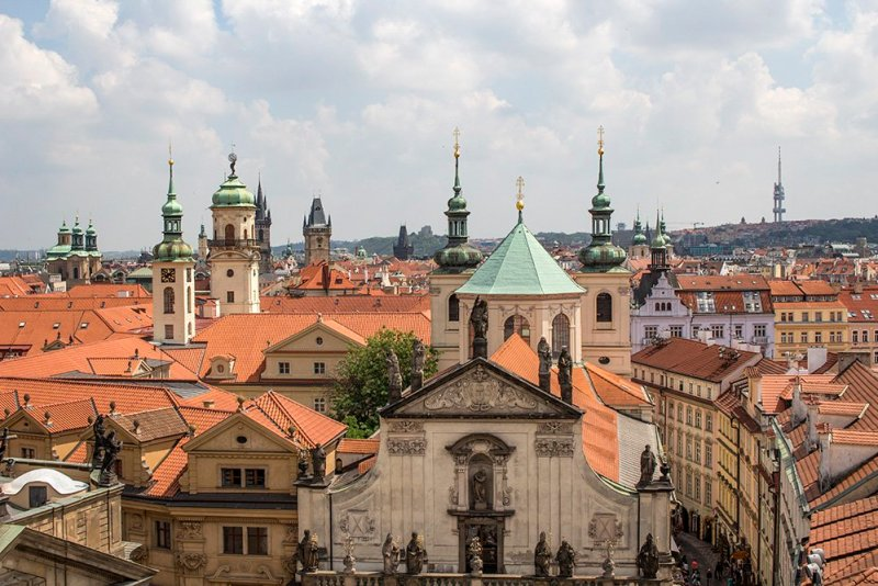 View from Charles Bridge Tower