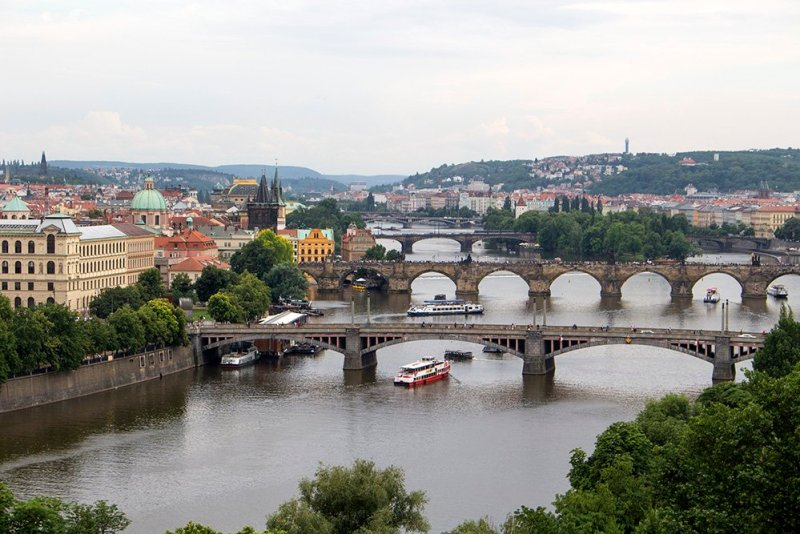 View from Letna Park in Prague