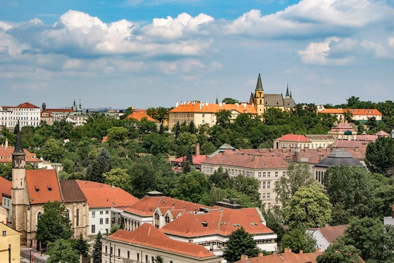 View from Vysehrad in Prague