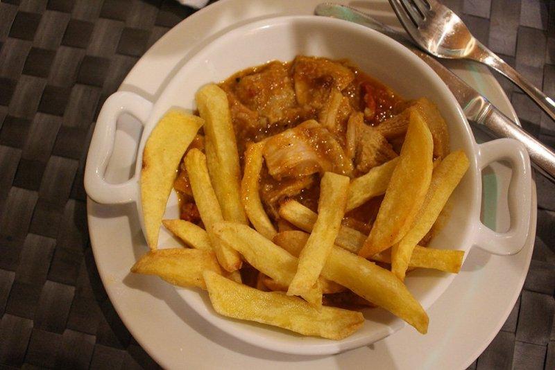 Veal tripes stew tapas in Spain