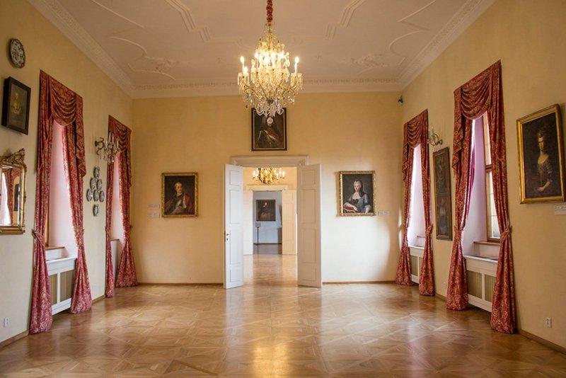 Внутри Лобковицкого дворца в Праге