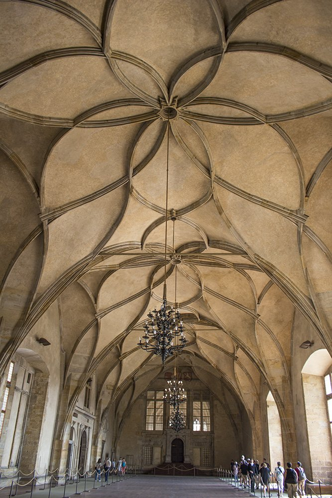 Зал Владислава в Старом королевском дворце в Пражском граде