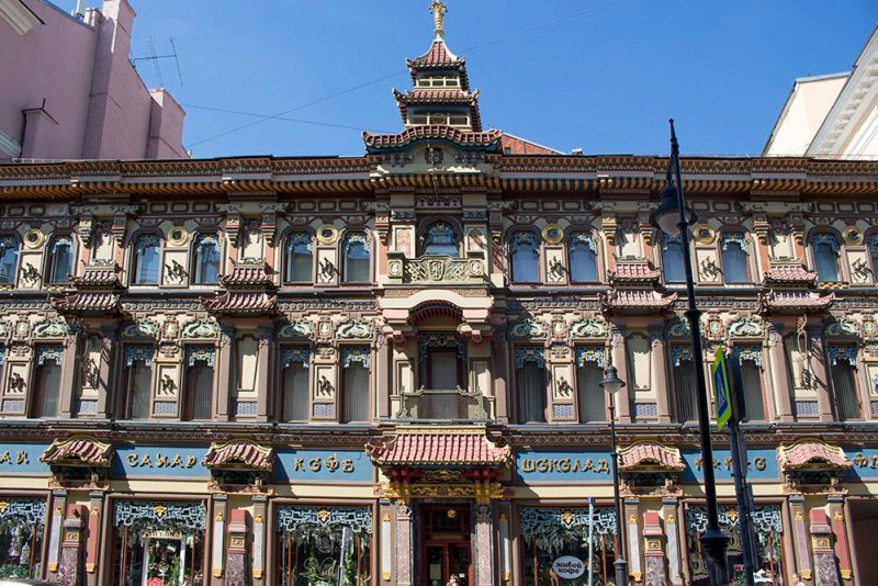 What to do in Moscow for free   A tea shop in Myasnitskaya street in Moscow