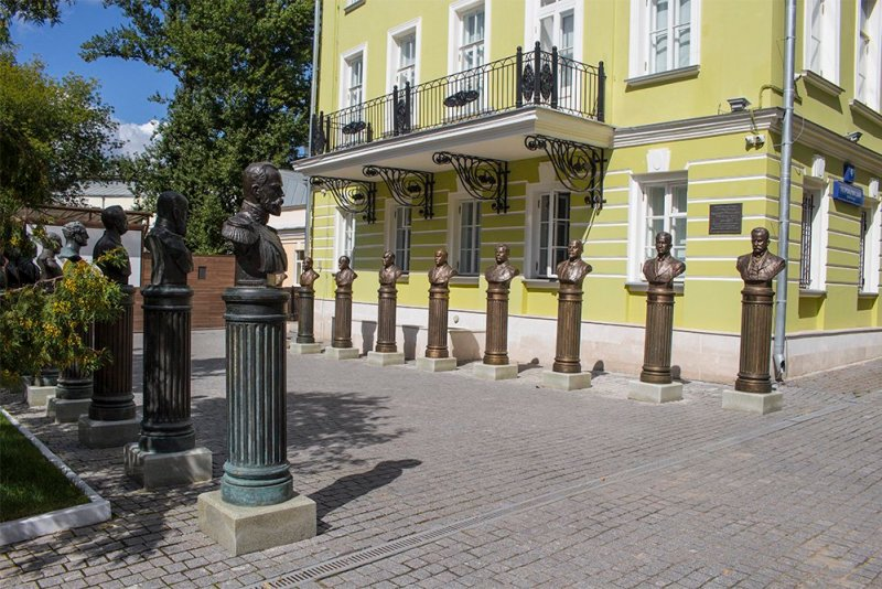 The Alley of Russian Rulers in Moscow