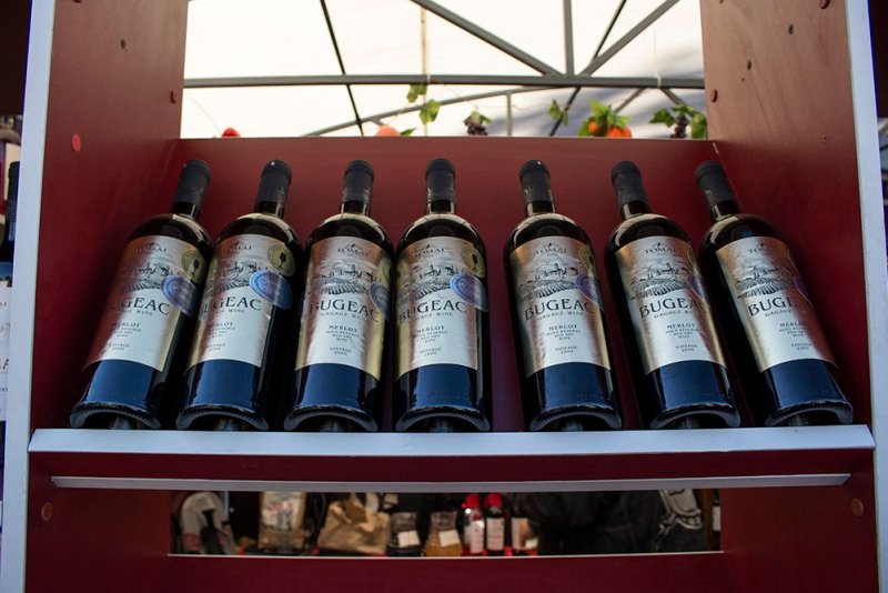 Wines at the festival in Chisinau