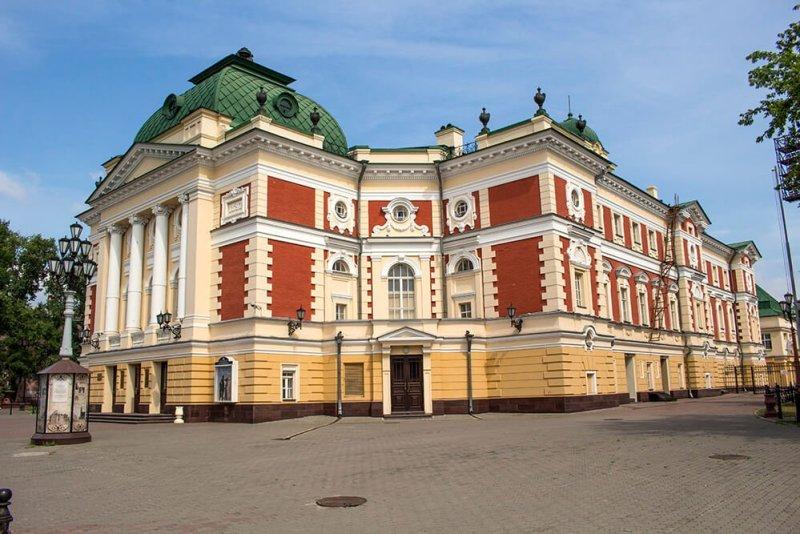 Irkutsk Academic Drama Theater in Karl Marx Street