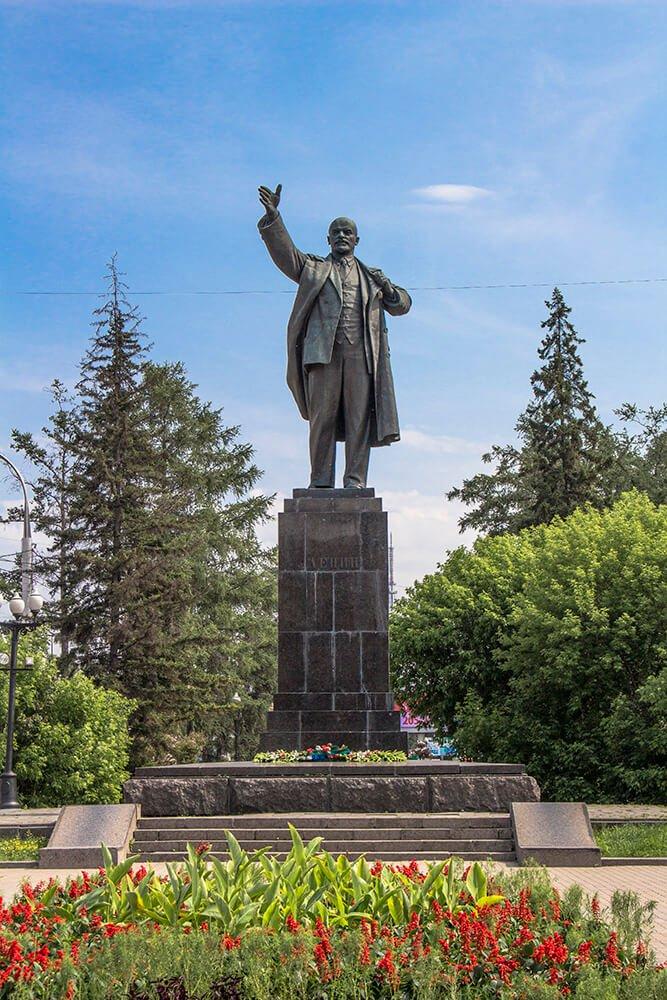 Lenin Square in Irkutsk, Russia