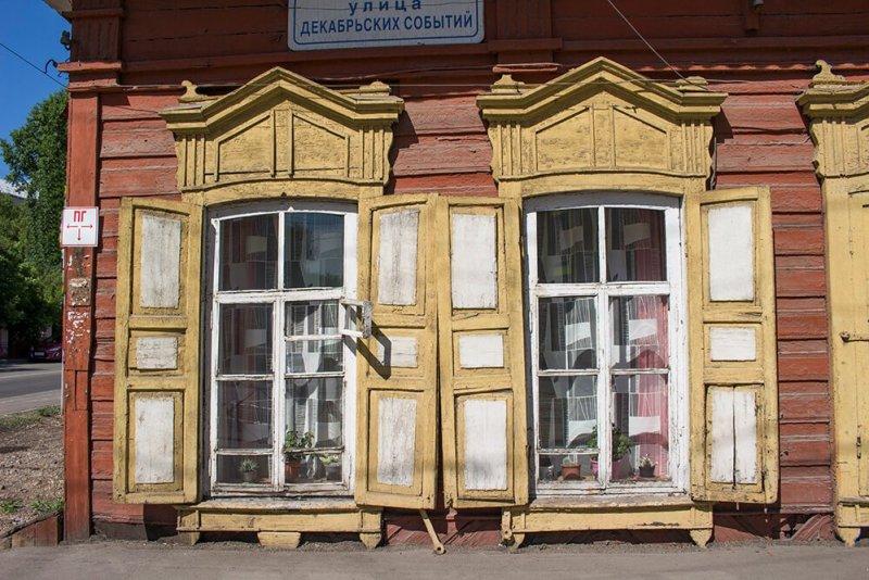 Wooden house in Irkutsk, Russia