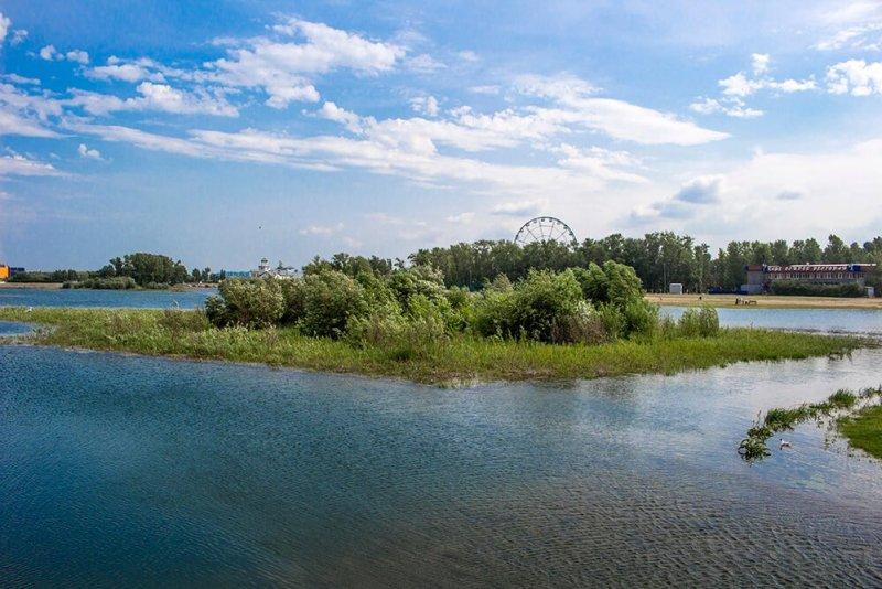 Yunost Island in Irkutsk, Russia