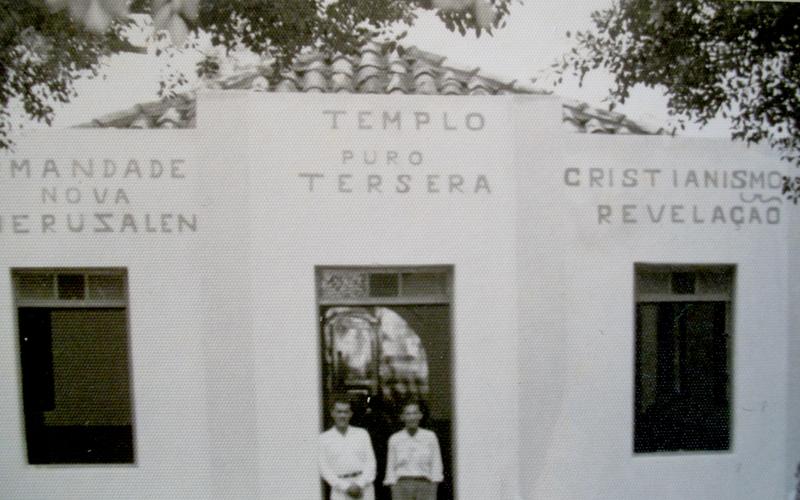 Templo da Irmandade do Puro Cristianismo - ano 1950 - Bairro  de Duas Barras - Birigui - SP