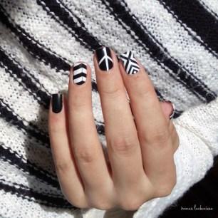black and white nail wraps (6)