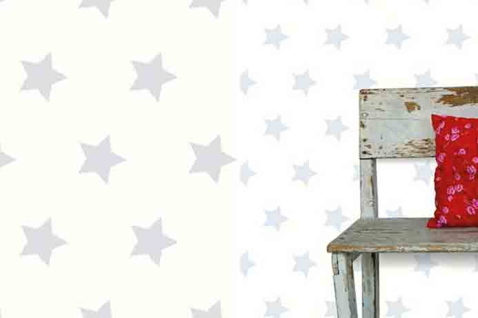 Babykamer Behang Sterren : Sterren behang licht grijze sterren behang stockvector with