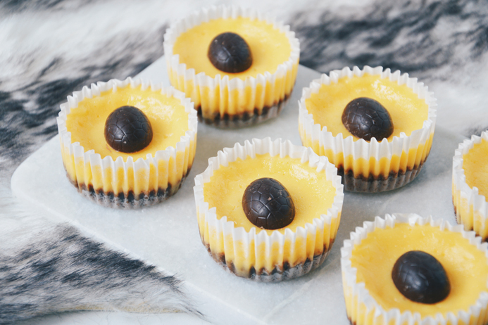 Paasrecept mini advocaat cheesecakes