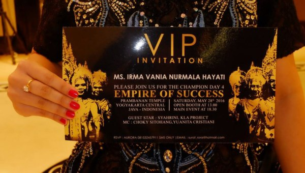 vip irma vania moment champion day 4 empire of success