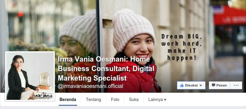 Irma Vania Oesmani Home Business Consultant Digital Marketing Specialist