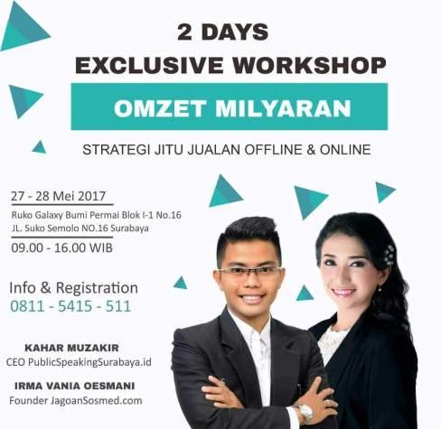 Irma Vania Oesmani Workshop Strategi Jualan Online dan Offline