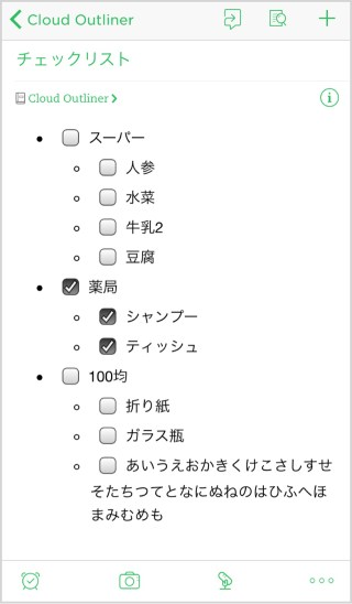 Evernoteでの表示