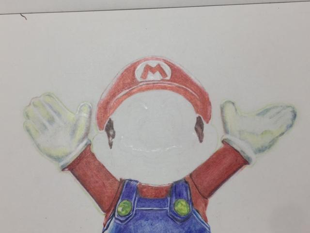 色鉛筆 マリオ