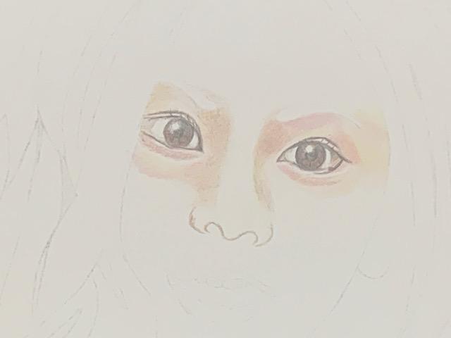 色鉛筆 倉木麻衣 似顔絵 イラスト