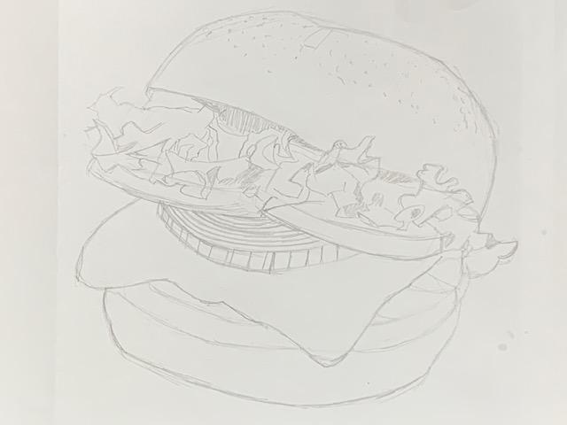 クレヨン ハンバーガー イラスト