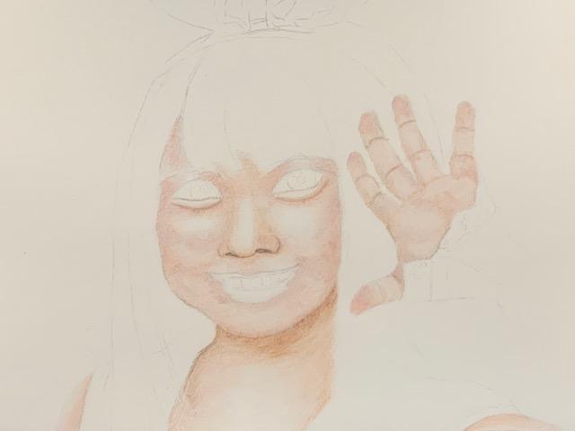 色鉛筆 キズナアイ 女の子 イラス