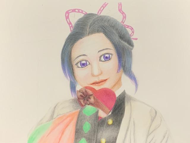 色鉛筆 クレヨン 胡蝶しのぶ 鬼滅の刃